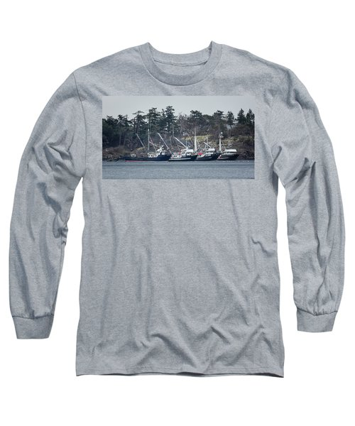 Seiners In Nw Bay Long Sleeve T-Shirt by Randy Hall