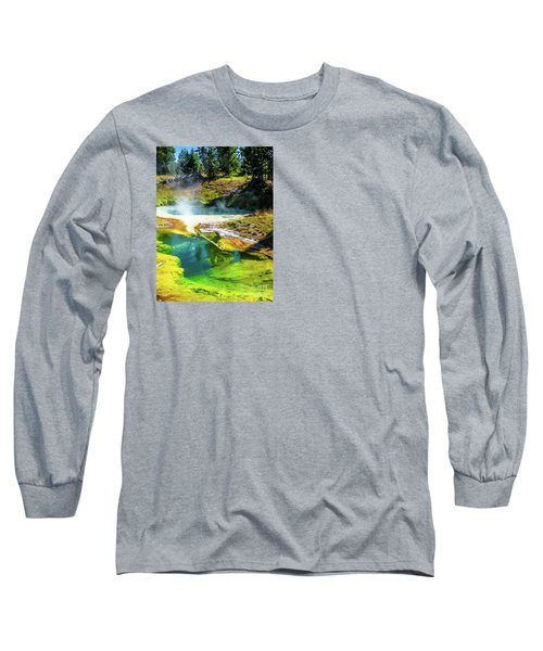 Seismograph Pool In Yellowstone Long Sleeve T-Shirt