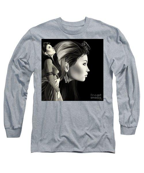 Self Portrait Digital Long Sleeve T-Shirt