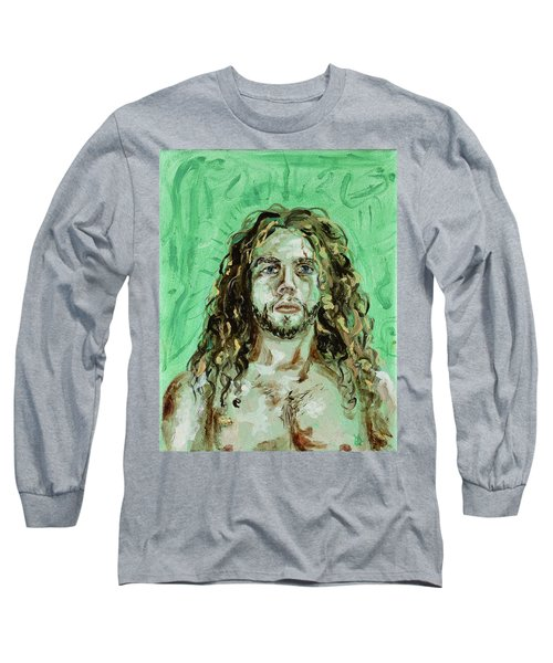 Self Portrait -with Emerald Green And Mummy Brown- Long Sleeve T-Shirt