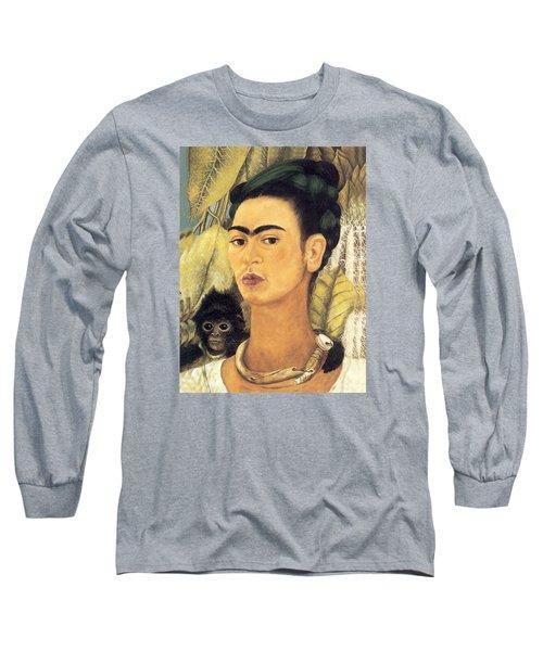 Self Portrait With Monkey  Long Sleeve T-Shirt