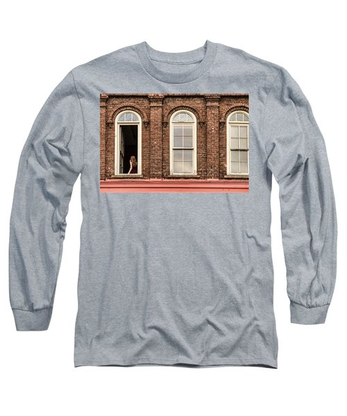 Selfie In The Window Long Sleeve T-Shirt