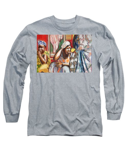 Long Sleeve T-Shirt featuring the painting Senegal, 1965 by Gary Coleman