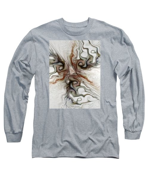 Long Sleeve T-Shirt featuring the digital art Sensuality by Karin Kuhlmann