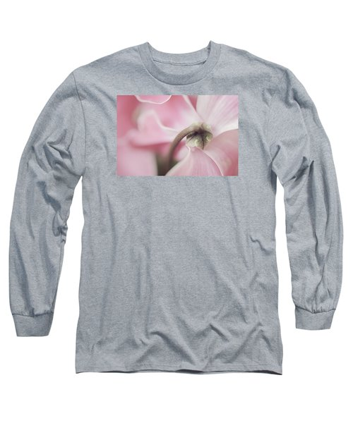 Sensuous Cyclamen Long Sleeve T-Shirt by Mary Angelini