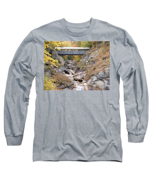 Sentinel Pine Covered Bridge Long Sleeve T-Shirt by Catherine Gagne