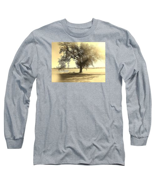 Sepia Colors In A Tree Long Sleeve T-Shirt