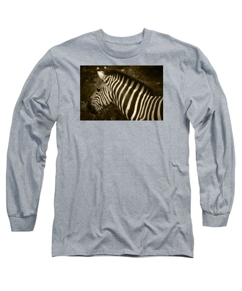 Sepia Zebra Long Sleeve T-Shirt