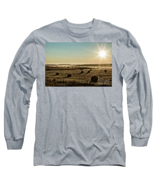 Long Sleeve T-Shirt featuring the photograph September Hay by Brad Allen Fine Art