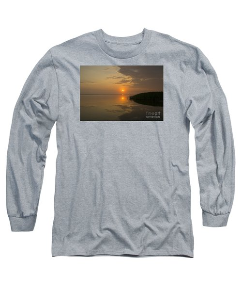 Long Sleeve T-Shirt featuring the photograph Serene Evening by Inge Riis McDonald