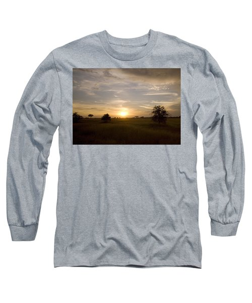 Serengeti Sunset Long Sleeve T-Shirt by Patrick Kain
