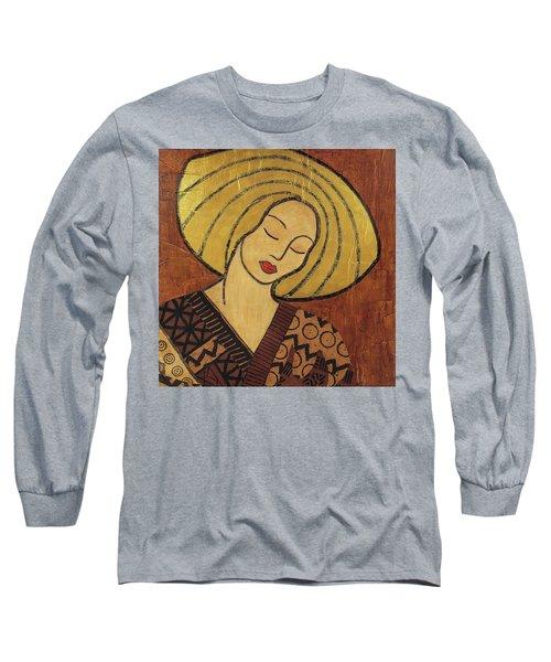 Long Sleeve T-Shirt featuring the mixed media Serenity by Gloria Rothrock