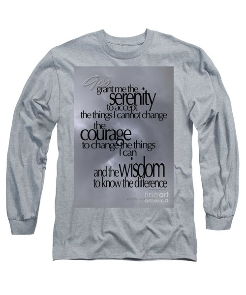 Serenity Prayer 05 Long Sleeve T-Shirt