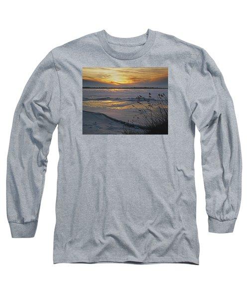 Long Sleeve T-Shirt featuring the photograph Setting Sun by Judy Johnson