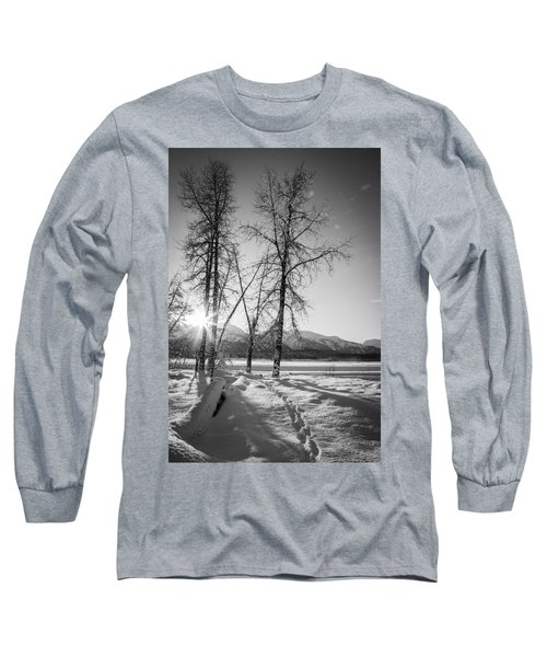 Setting Winter Sun Long Sleeve T-Shirt by Michele Cornelius