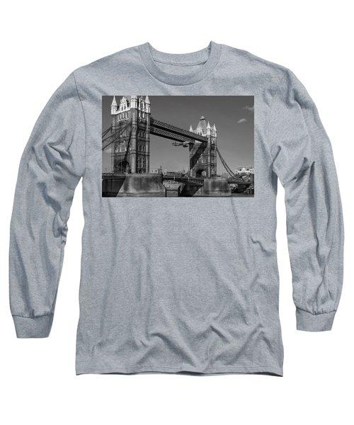 Seven Seconds - The Tower Bridge Hawker Hunter Incident Bw Versio Long Sleeve T-Shirt