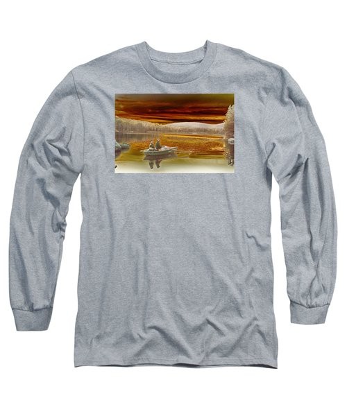 Long Sleeve T-Shirt featuring the photograph Seyon Sunset by Paul Miller