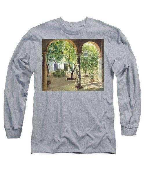 Shaded Courtyard, Vianna Palace, Cordoba Long Sleeve T-Shirt