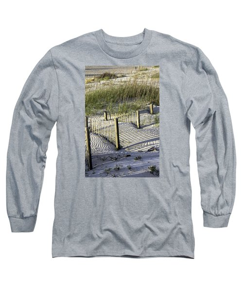 Shadows On The Dune Long Sleeve T-Shirt by Elizabeth Eldridge