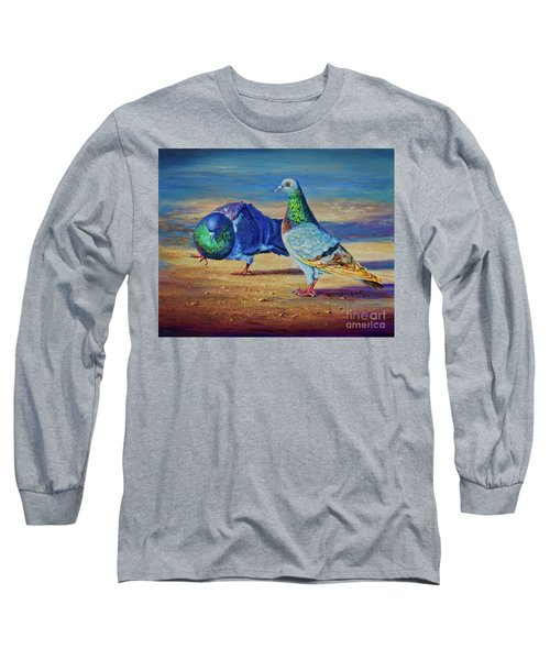 Long Sleeve T-Shirt featuring the painting Shall We Dance? by AnnaJo Vahle