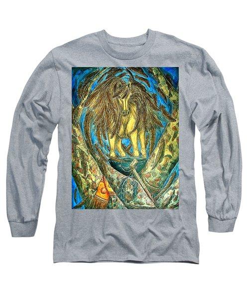 Shaman Spirit Long Sleeve T-Shirt by Kim Jones