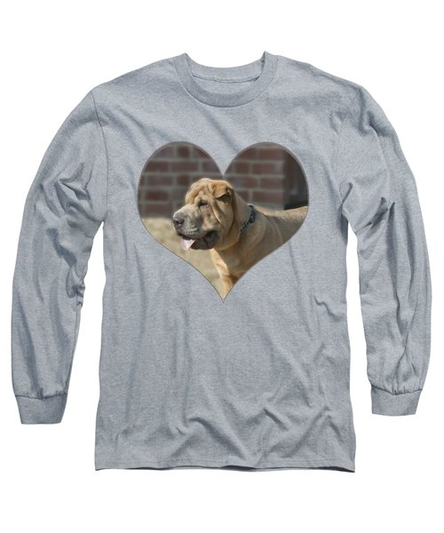 Shar Pei Heart Long Sleeve T-Shirt