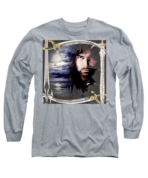 Shattered Kili With Swords Long Sleeve T-Shirt by Kathy Kelly
