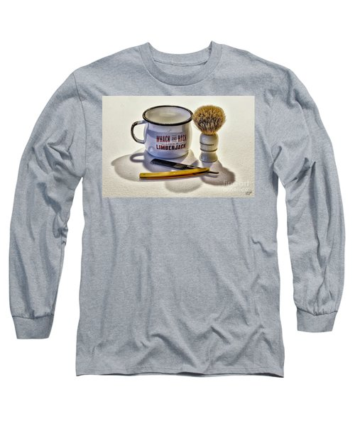 Long Sleeve T-Shirt featuring the photograph Shaving Still Life by Walt Foegelle