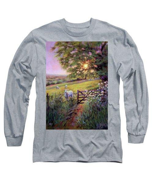 Sheep At Sunset Long Sleeve T-Shirt