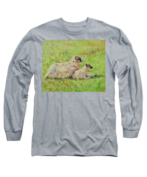 Sheep In The Spring Time,la Vie Est Belle Long Sleeve T-Shirt
