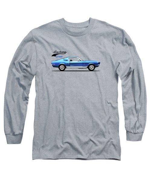 Shelby Mustang Gt500 1968 Long Sleeve T-Shirt by Mark Rogan