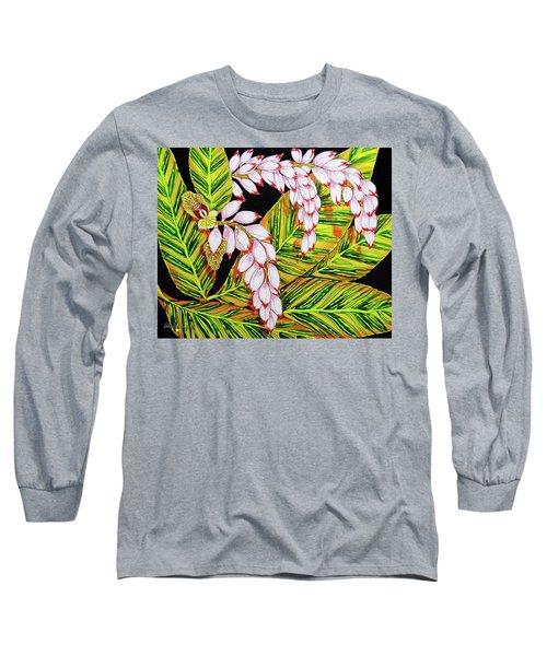 Shell Ginger Flowers Long Sleeve T-Shirt