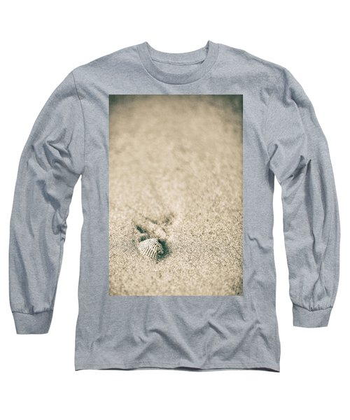 Long Sleeve T-Shirt featuring the photograph Shell On Beach Alabama  by John McGraw