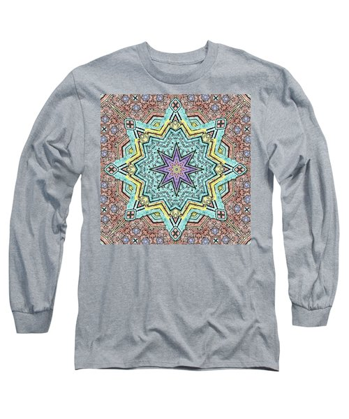 Shell Star Mandala Long Sleeve T-Shirt by Deborah Smith