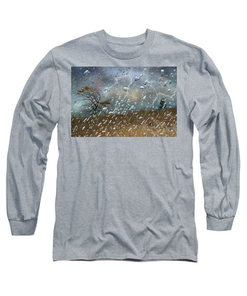 Shelter From The Storm Long Sleeve T-Shirt by Ed Hall