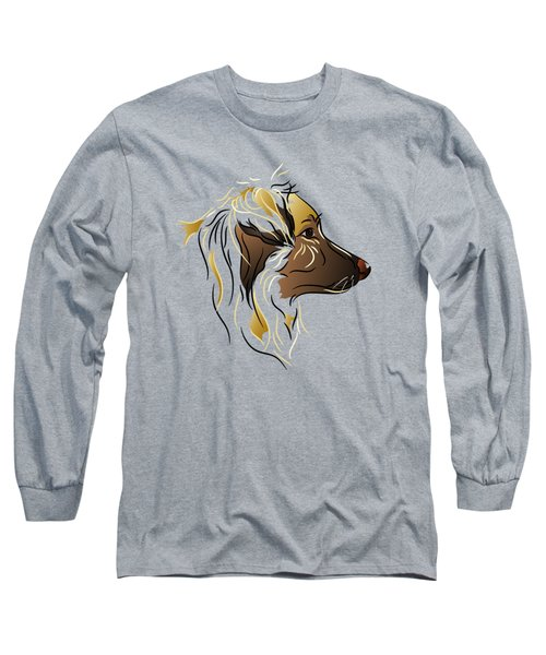 Shepherd Dog In Profile Long Sleeve T-Shirt by MM Anderson