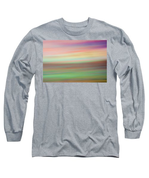 Long Sleeve T-Shirt featuring the mixed media Sherbet II by Shara Weber