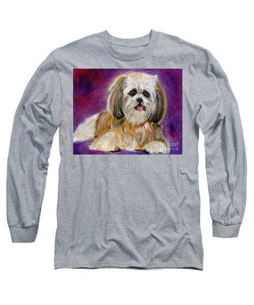 Shih-tzu Puppy Long Sleeve T-Shirt by Jenny Lee