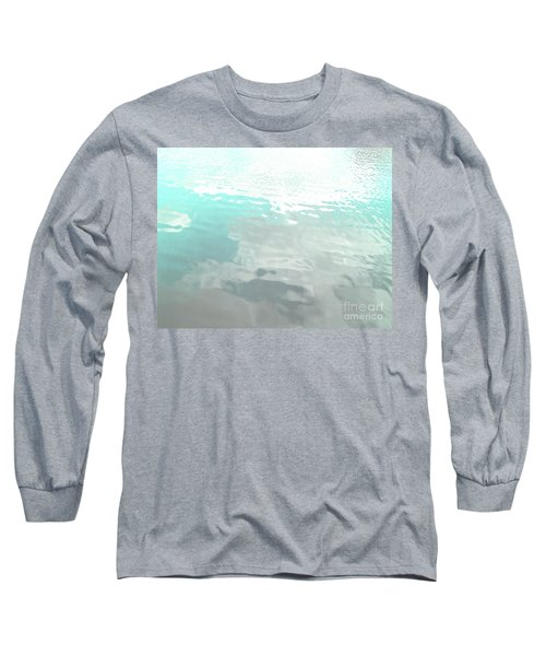 Long Sleeve T-Shirt featuring the photograph Let The Water Wash Over You. by Rebecca Harman