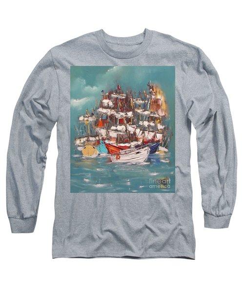 Ship Harbor Long Sleeve T-Shirt