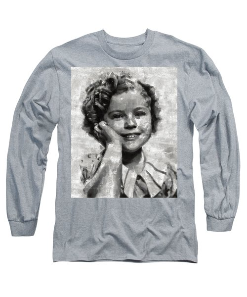 Shirley Temple By Mary Bassett Long Sleeve T-Shirt by Mary Bassett
