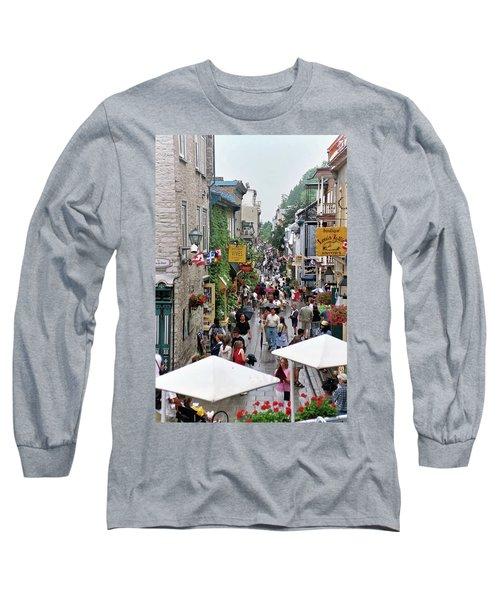 Long Sleeve T-Shirt featuring the photograph Shop Till One Drops by John Schneider