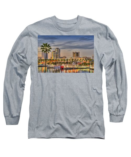 Shoreline Village Rainbow Harbor Marina Long Sleeve T-Shirt