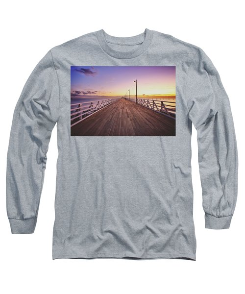 Shorncliffe Pier At First Light  Long Sleeve T-Shirt