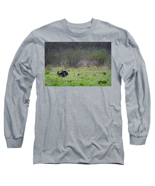 Long Sleeve T-Shirt featuring the photograph Showing Off by Bill Wakeley
