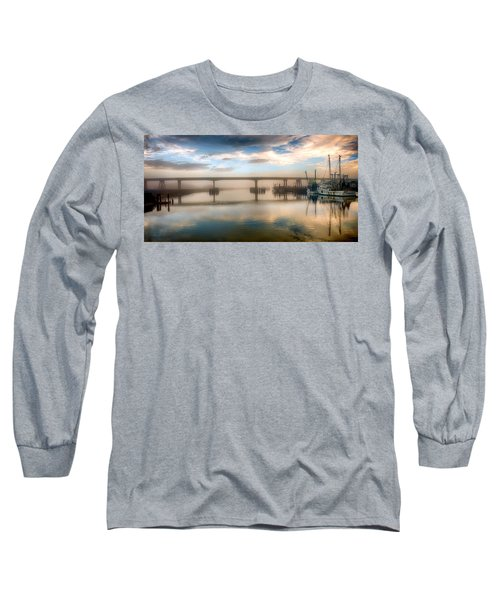 Shrimp Boats At Sunrise Long Sleeve T-Shirt