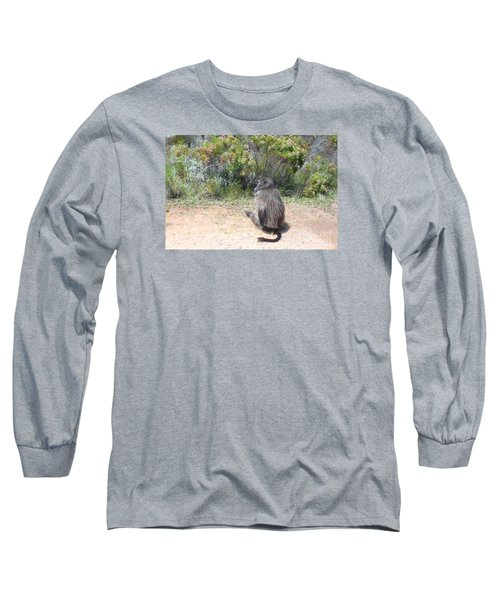 Shunned By A Baboon Long Sleeve T-Shirt by Bev Conover