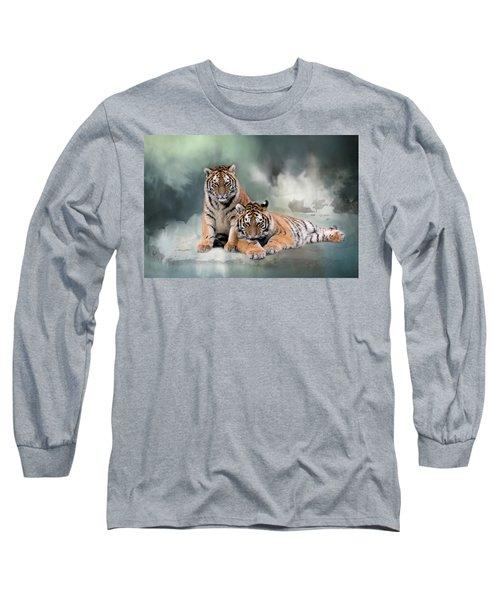 Siberian Twins Long Sleeve T-Shirt by Inge Riis McDonald