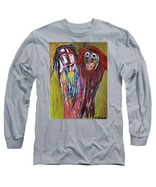 Siblings   Long Sleeve T-Shirt by Darrell Black