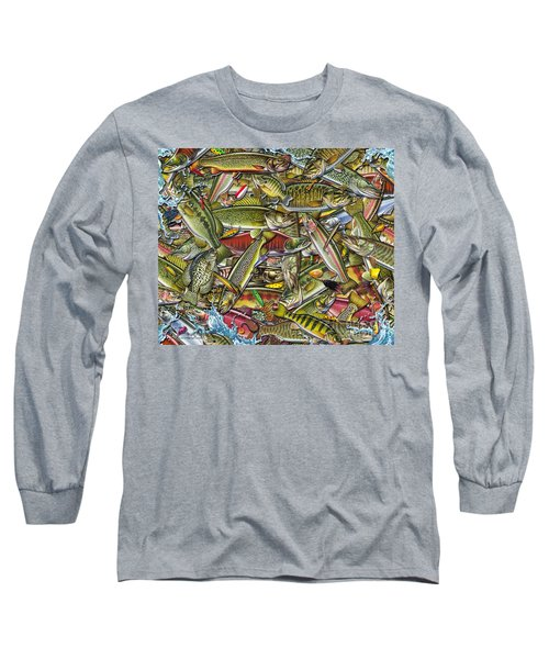 Side Fish Collage Long Sleeve T-Shirt by Jon Q Wright JQ Licensing